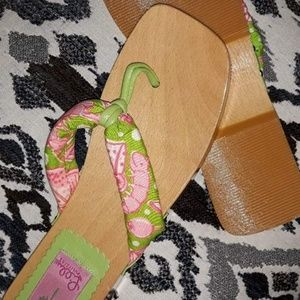 Lilly Pulitzer Sandals Dress Shoes Clogs Mules 8 m